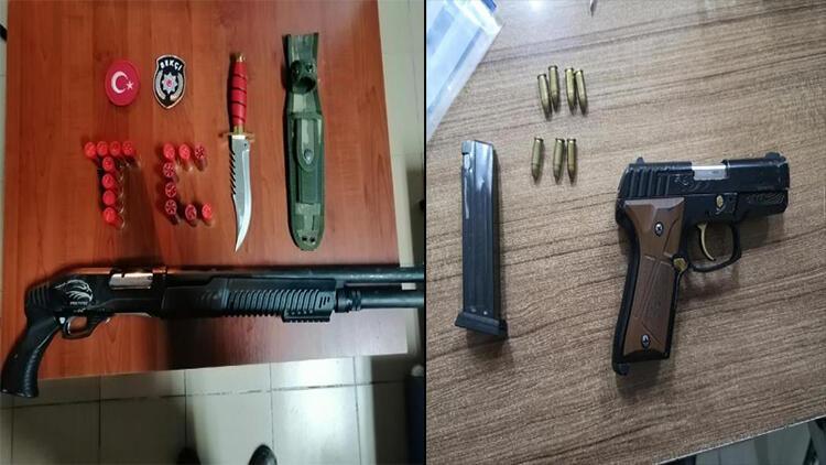 Kısıtlamada 2 kişi silahla yakalandı
