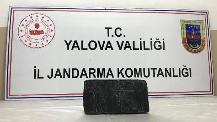 Yalova'da tarihi eseri satmaya çalışan şüpheliye suçüstü