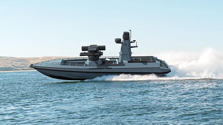 İlk Silahlı İnsansız Deniz Aracı'nın prototipi denize iniyor
