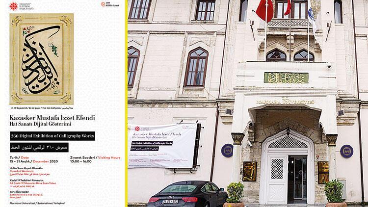 Kazasker Mustafa İzzet'in eserleri dijital sergide