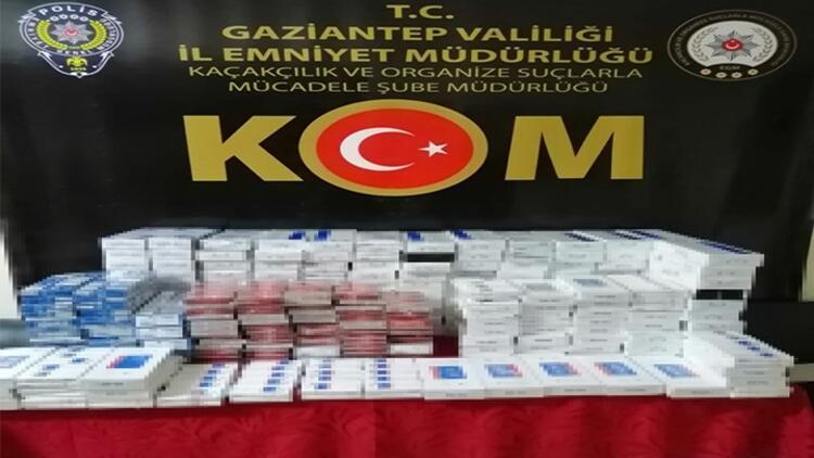 Gaziantep'te 2 bin 580 paket kaçak sigara ele geçirildi