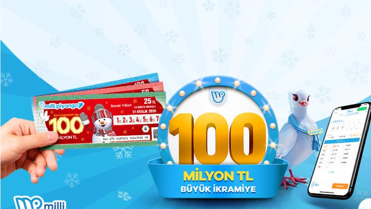 Geri sayım başladı Yılbaşında büyük ikramiye 100 milyon TL... Milli Piyango Yılbaşı biletleri Millipiyangoonline.comda