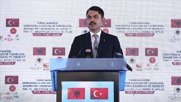 Bakan Kurum: Arnavutluk'ta inşa edilecek konutlar kardeşlik hukukunu güçlendirecek