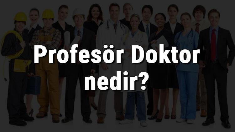 Profesör Doktor nedir, ne iş yapar ve nasıl olunur? Profesör Doktor olma şartları, maaşları ve iş imkanları