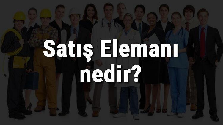 Satış Elemanı nedir, ne iş yapar ve nasıl olunur? Satış Elemanı olma şartları, maaşları ve iş imkanları