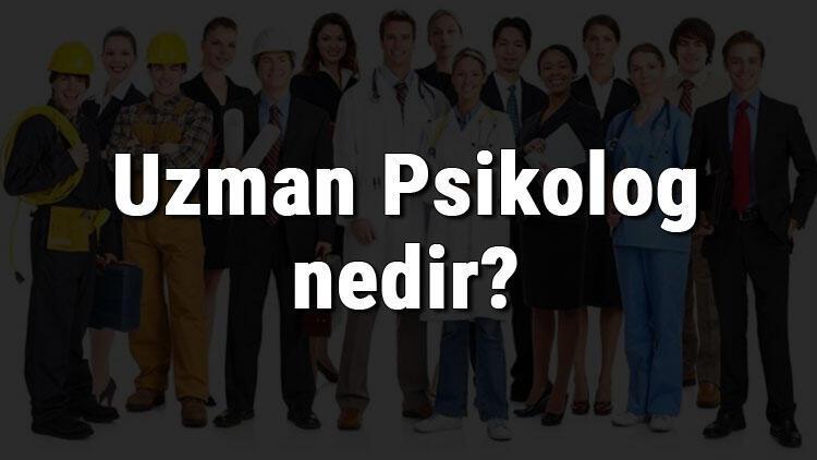 Uzman Psikolog nedir, ne iş yapar ve nasıl olunur? Uzman Psikolog olma şartları, maaşları ve iş imkanları