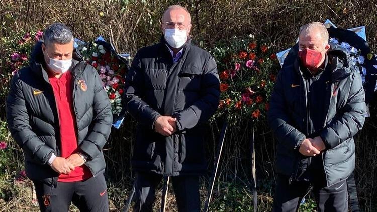 Galatasaray'dan Özkan Sümer'in mezarına ziyaret