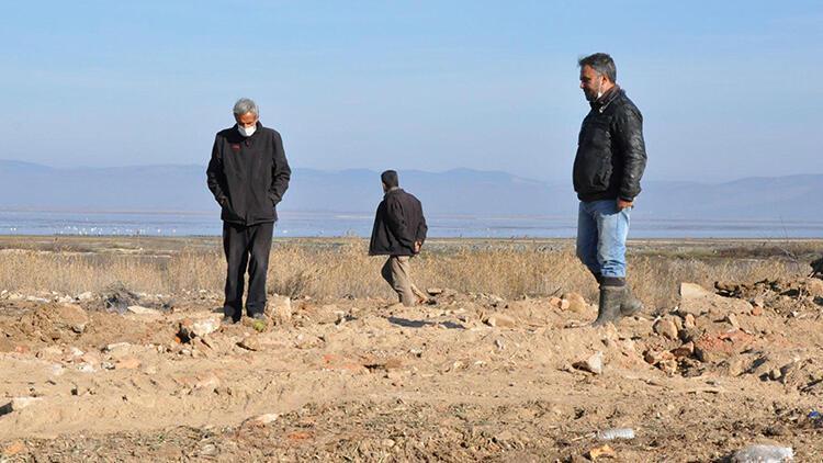 Marmara Gölü'nde tepki çeken görüntü