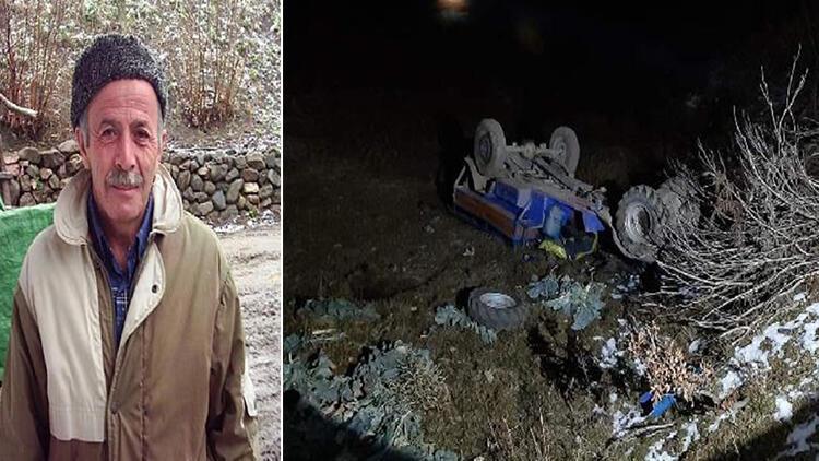 Ordu'da tarım aracı şarampole yuvarlandı: 1 ölü
