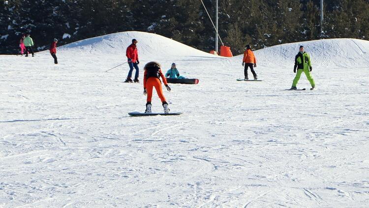 Palandökende, pandemi kurallarında kayak keyfi