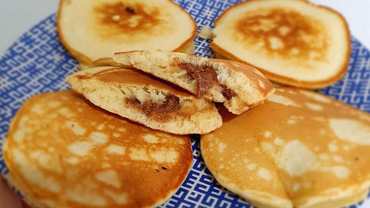 Minikler için leziz bir sürpriz: Fındık kremalı pankek