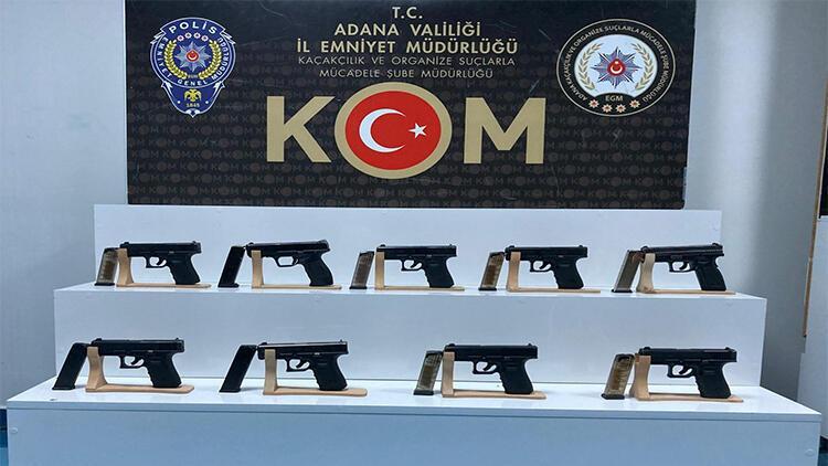 Adana'da 9 ruhsatsız tabanca ele geçirildi