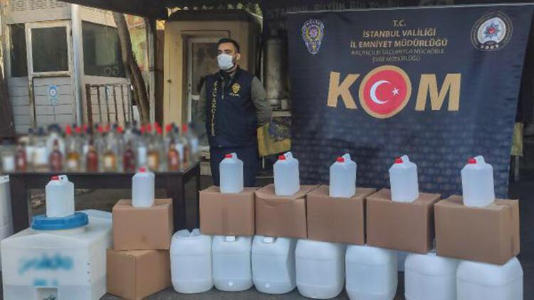 İstanbul'da yılbaşı öncesi sahte içki operasyonu