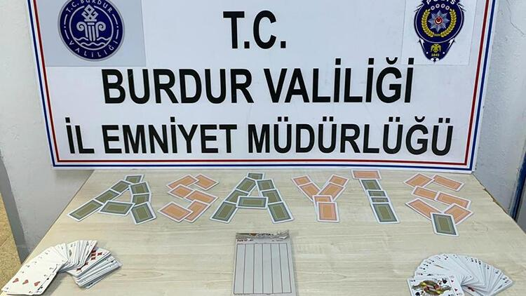 Burdur'da kumar operasyonu