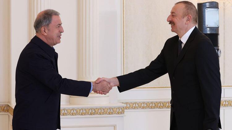 Bakan Akar, Cumhurbaşkanı Aliyev ile görüştü: Tek yürek, tek bilek, tek yumruk!