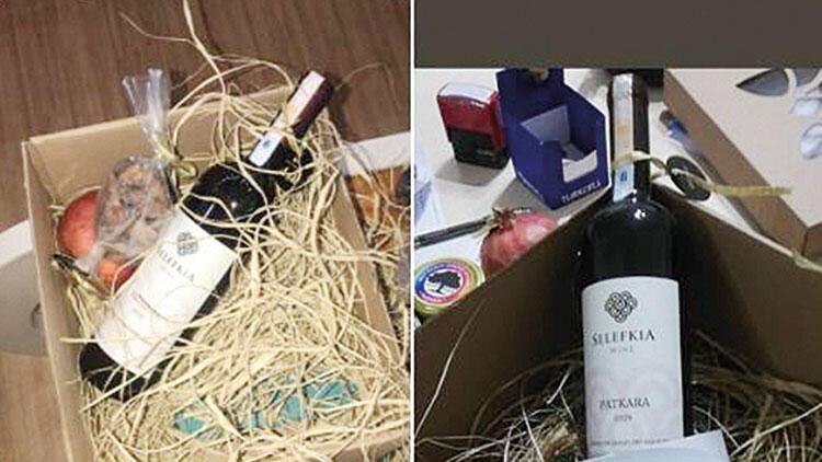 Belediyenin sepetindeki şaraba tepki