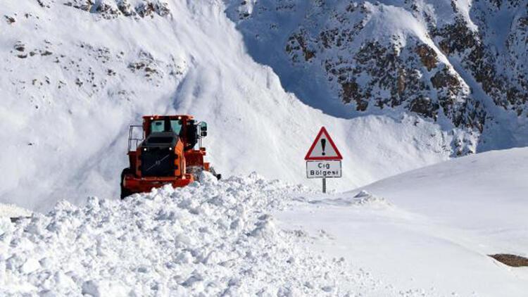 Bahçesaray'da 2 metre karda ekiplerin yoğun meaisi