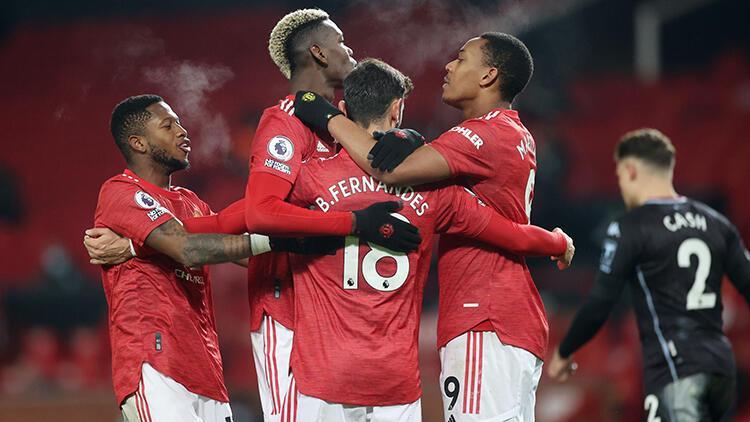 Manchester United, sahasında Aston Villa'yı 2 golle geçti