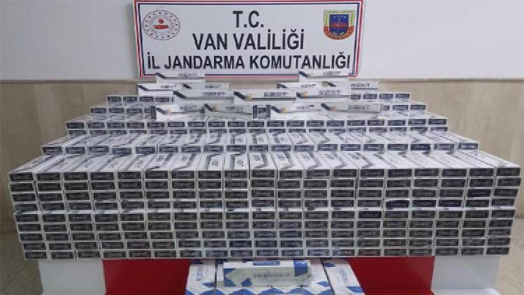 Van'da 8 bin 500 paket kaçak sigara ele geçirildi