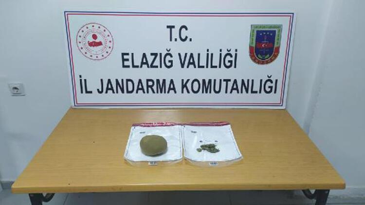 Elazığ'da, 500 gram esrarla yakalanan 2 kişiye gözaltı