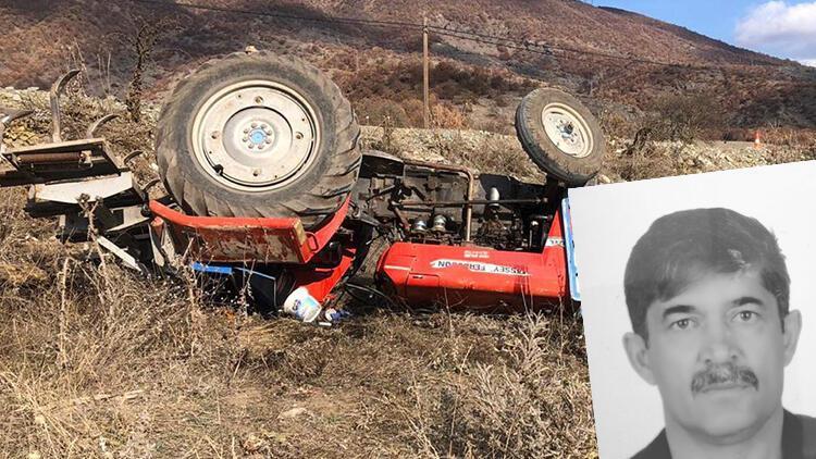 Tokat'ta devrilen traktörün altında kalan itfaiye eri, hayatını kaybetti