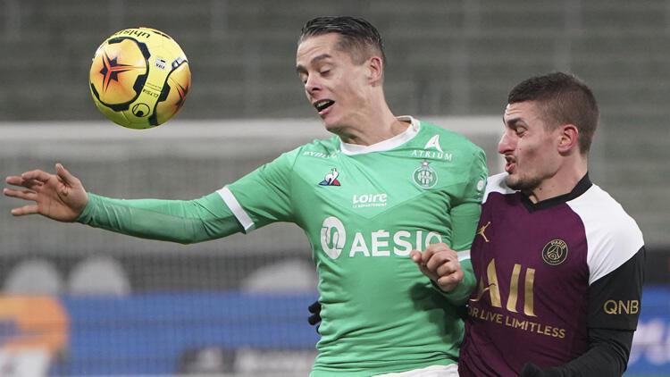 PSG, deplasmanda Saint-Etienne ile 1-1 berabere kaldı