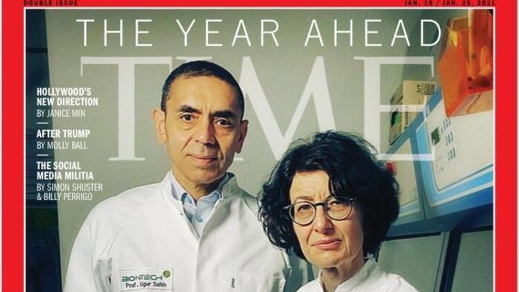 Prof. Dr. Uğur Şahin ve Özlem Türeci dünyaca ünlü TIME dergisinin kapağında!