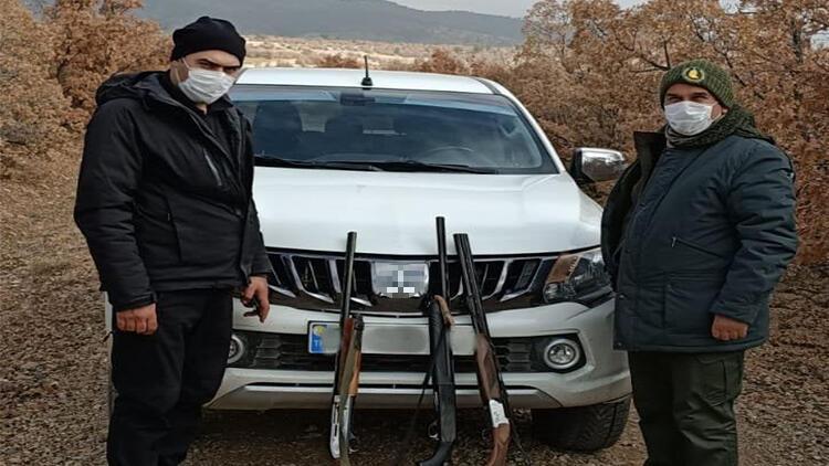 Konya'da yasa dışı avlanan 6 kişi yakalandı