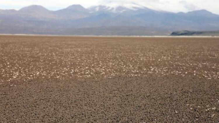 Kayseri'de Çöl Gölü tamamen kurudu