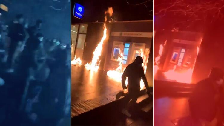 Avrupa'nın göbeğinde kaos! Afrikalı bir genç karakolda öldü... Polis merkezini ateşe verip Kral'ın aracını taşladılar