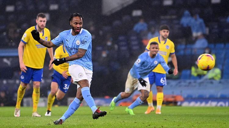 Premier Lig'de Manchester City, Brighton'ı tek golle geçti