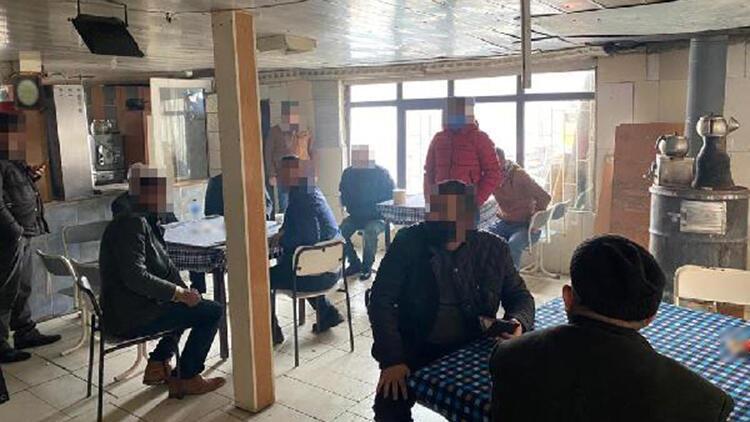 Ankara'da, ruhsatsız kahvehanede kumar oynayanlara ceza