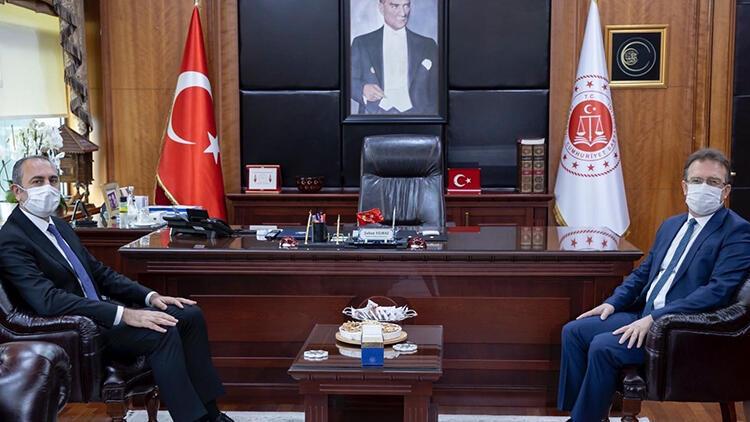 Adalet Bakanı Abdülhamit Gül İstanbul Cumhuriyet Başsavcısı'nı ziyaret etti