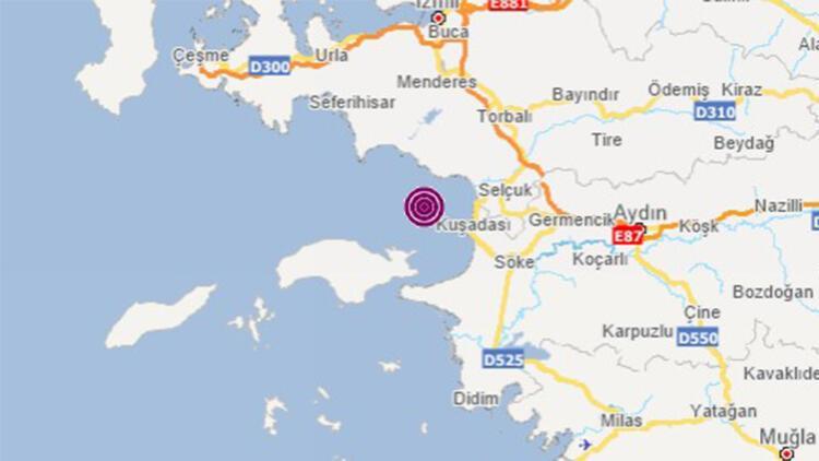 Son dakika: Kuşadası Körfezi'nde 3.6 büyüklüğünde deprem