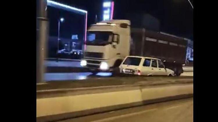 Çankırı'da, 3 kilometre ters yönde giden sürücüye para cezası