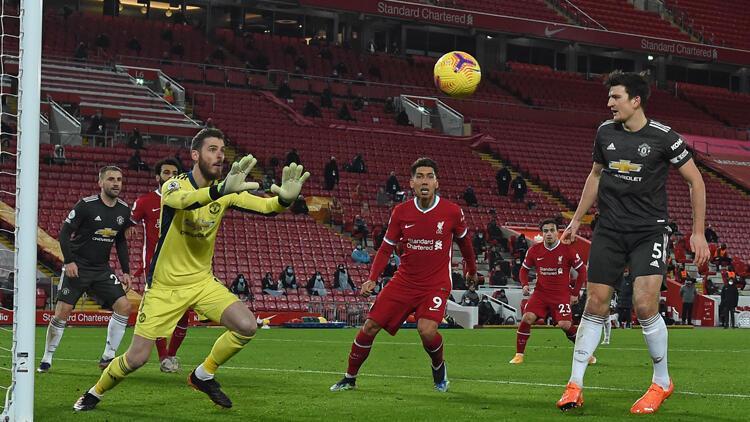 Premier Lig'de Liverpool ile Manchester United golsüz berabere kaldı