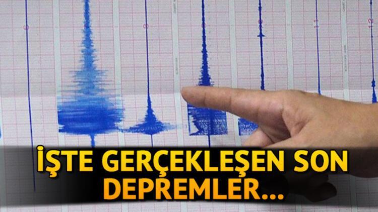 Son depremler: Deprem mi oldu? Kandilli Rasathanesi açıklamaları