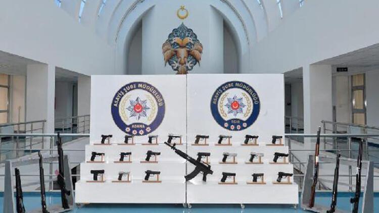 Adana'da aranan 229 kişi yakalandı, 37 ruhsatsız silah ele geçirildi