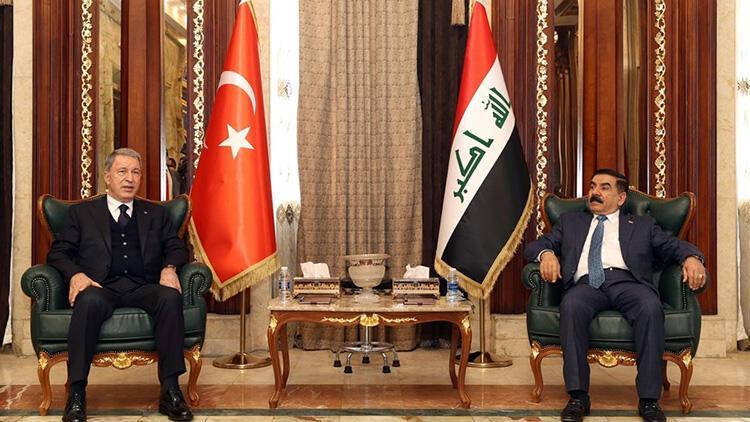 Milli Savunma Bakanı Hulusi Akar'dan Irak'ta önemli temaslar