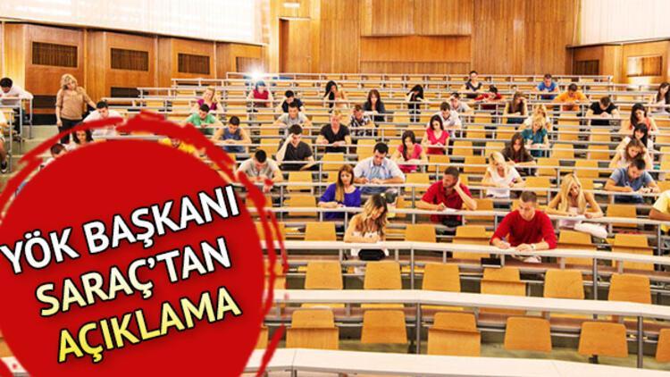 Üniversiteler ne zaman açılacak, açılacak mı? YÖK Başkanı Prof. Dr. Yekta Saraç'tan yüz yüze eğitim açıklaması