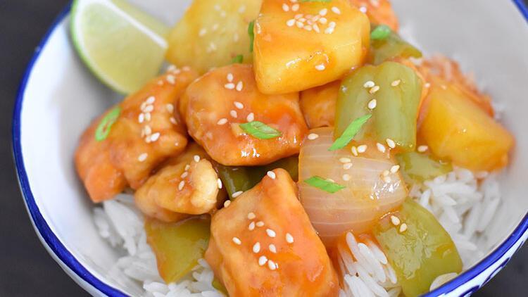 Sofralarda Asya rüzgarı: Çin usulü tatlı-ekşi tavuk