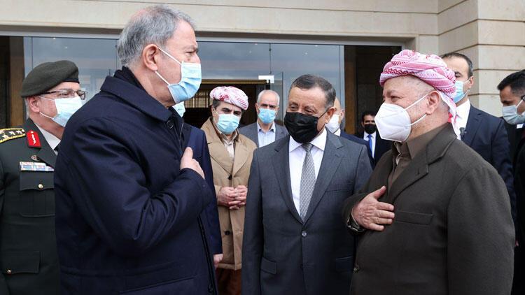 Bakan Akar Irak'ta: 'Amacımız terör örgütü PKK'yı ortadan kaldırmak'
