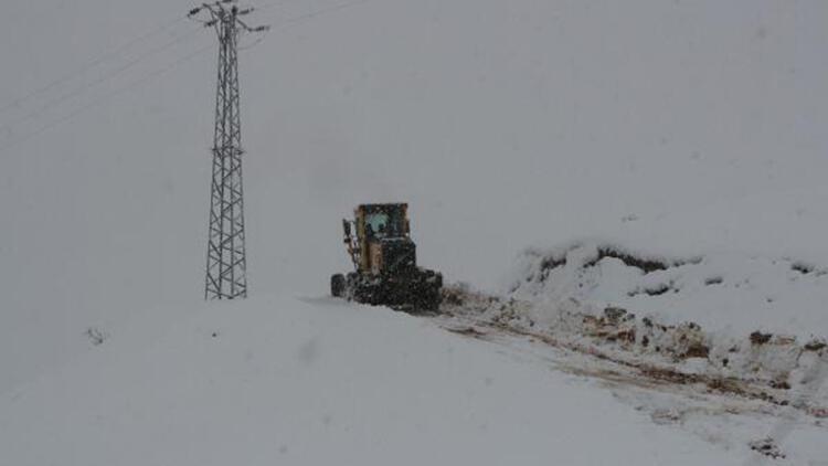 Şırnak'ta kardan kapanan 13 köy ve 5 mezra yolu, açılmaya çalışılıyor