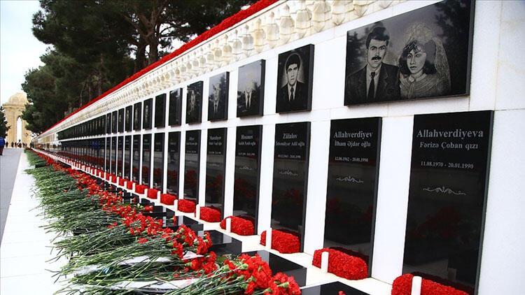"""Azerbaycan'da """"Kanlı Ocak"""" kurbanları anılıyor"""
