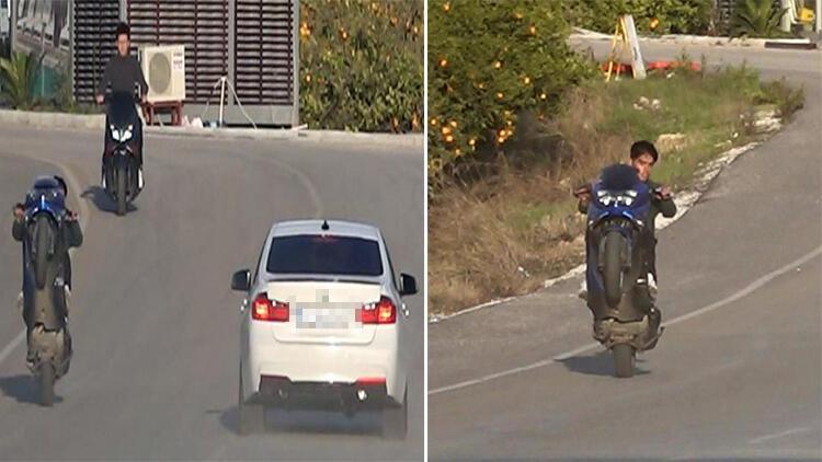 Motosikletli gençlerin tehlikeli eğlencesine 28 bin 912 lira ceza