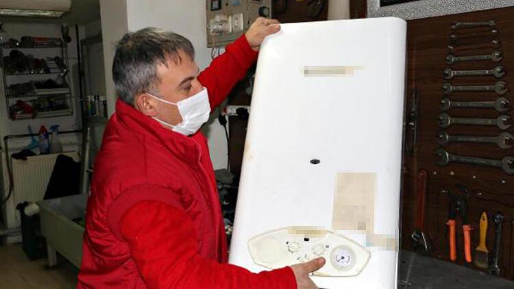 Eskişehir'de, soğuk hava kombileri dondurdu