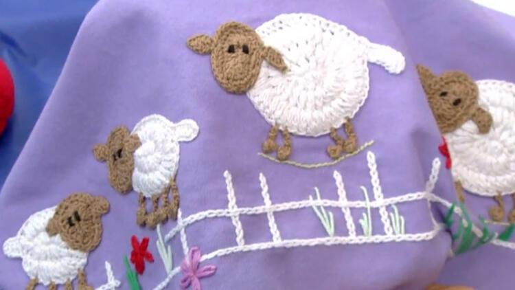 Bebek battaniyesi nasıl süslenir?