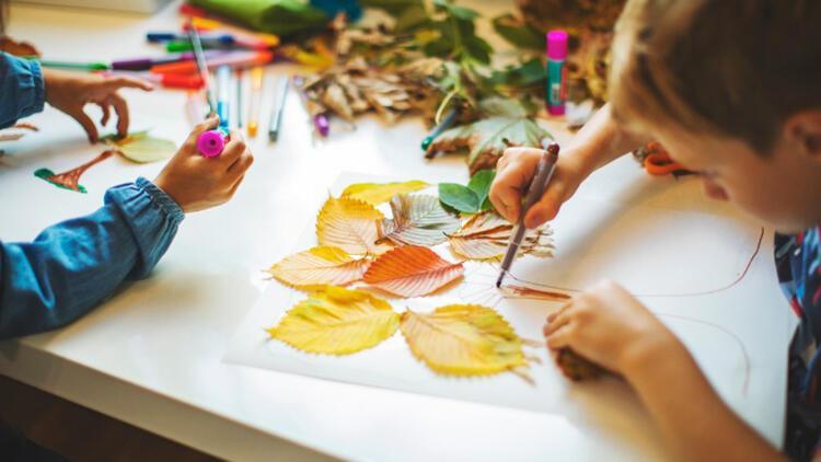 Çocuklar için evde yapılabilecek eğitici el sanatları fikirleri