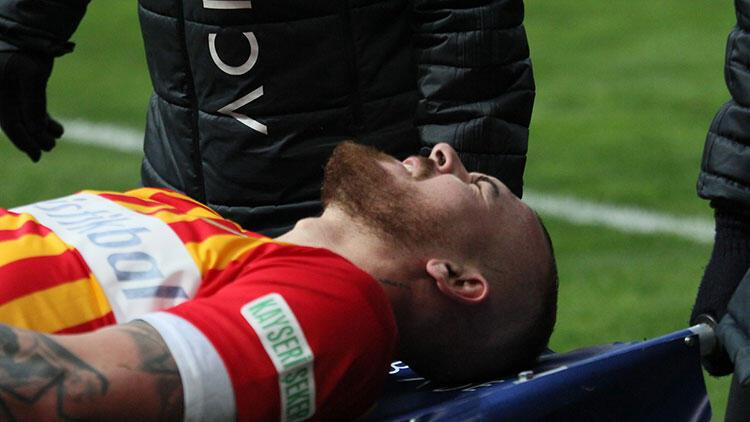 Kayserispor'da Alibec, 2-3 hafta sahalardan uzak kalacak