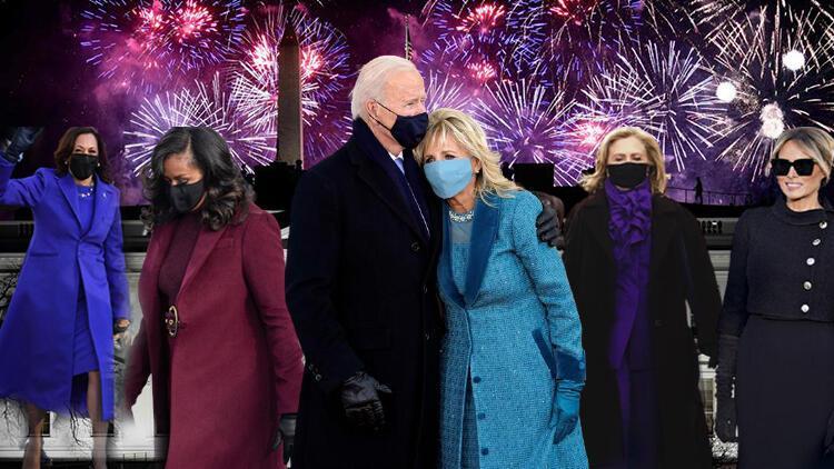 Beyaz Saray'da tüm gözler onların üzerindeydi... ABD'nin kadınlarından Joe Biden'ın yemin töreninde kostümlü 'birlik mesajı'